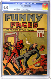 Funny Pages V3#10 (Centaur, 1939) CGC VG 4.0 Off-white pages
