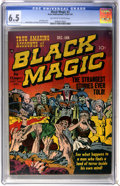 Golden Age (1938-1955):Horror, Black Magic #2 (Prize, 1950) CGC FN+ 6.5 Off-white to whitepages....