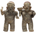 Antiques:Antiquities, Nayarit Standing Couple... (Total: 2 Items)