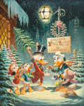 Original Comic Art:Paintings, Carl Barks Christmas Composition Oil Painting Original Art (1972)....
