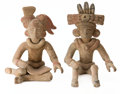 Antiques:Antiquities, Two Teotihuacan Miniatures... (Total: 2 Items)