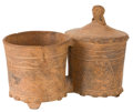 Antiques:Antiquities, Double Vessel with Attached Lid...