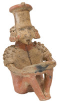 Antiques:Antiquities, Male Seated Figure...