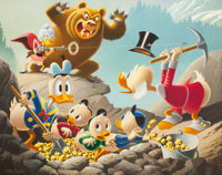 Carl Barks Trespassers Will Be Ventilated Oil Painting Original Art (1988)