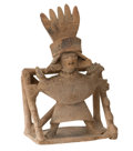 Antiques:Antiquities, Female Figure on a Litter...