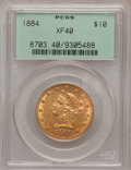 Liberty Eagles: , 1884 $10 XF40 PCGS. PCGS Population (4/276). NGC Census: (0/0).Mintage: 76,800. Numismedia Wsl. Price for problem free NGC...