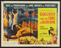 "Movie Posters:Adventure, Goliath and the Sins of Babylon (American International, 1964). Half Sheet (22"" X 28""). Adventure.. ..."