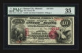 National Bank Notes:Missouri, Kansas City, MO - $10 1875 Fr. 420 The Citizens NB Ch. # 2613. ...