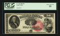 Large Size:Legal Tender Notes, Fr. 158 $50 1880 Legal Tender PCGS Choice About New 55.. ...