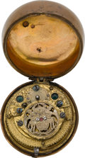 Timepieces:Pocket (pre 1900) , Swiss Unusual Verge Fusee Movement. ...