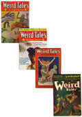 Pulps:Horror, Weird Tales Group (Popular Fiction, 1928-41) Condition: AverageFN/VF.... (Total: 4 )