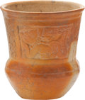Antiques:Antiquities, Molded Vessel with Images of the Flying Man...