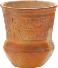 Molded Vessel with Images of the Flying Man