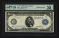 Large Size:Federal Reserve Notes, Fr. 877 $5 1914 Federal Reserve Note PMG About Uncirculated 55.. ...