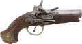 Military & Patriotic:Revolutionary War, Exceptional Quality Spanish 18th Century Miquelet Pocket Pistol....