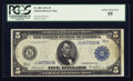 Large Size:Federal Reserve Notes, Fr. 881 $5 1914 Federal Reserve Note PCGS Choice About New 55.. ...