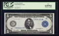 Large Size:Federal Reserve Notes, Fr. 879a $5 1914 Federal Reserve Note PCGS New 62PPQ.. ...