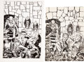 Original Comic Art:Sketches, Warren Kremer Chamber of Chills Unpublished Cover Preliminary Original Art Plus (Harvey, c. 1953)....