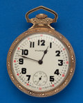 Timepieces:Pocket (post 1900), South Bend 21 Jewel, Studebaker Stem Set Eagle Case. ...