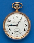 Timepieces:Pocket (post 1900), Hampden 21 Jewel, 18 Size In A Ball Model Case. ...