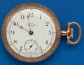 Timepieces:Pocket (post 1900), Waltham 17 Jewel, 18 Size Very Sharp Case. ...