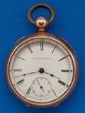 Timepieces:Pocket (pre 1900) , Elgin 18 Size, Gold Filled Key Wind. ...
