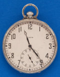 Timepieces:Pocket (post 1900), Lord Elgin 19 Jewel, 14k White Gold, 12 Size. ...