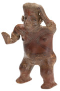 Antiques:Antiquities, Standing Painted Female Figure...