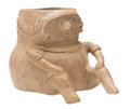 Antiques:Antiquities, Colima Figural Drinking Vessel...