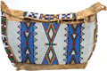 Paintings, A SIOUX BEADED HIDE TIPI BAG. c. 1890...