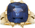 Estate Jewelry:Rings, Sapphire, Diamond, Gold Ring, Donna Pizarro. ...