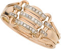 Estate Jewelry:Bracelets, Retro Diamond, Pink Gold Bracelet. ...