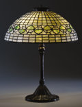 Lighting:Lamps, AN AMERICAN LEADED GLASS AND BRONZE TABLE LAMP . Tiffany Studios, Corona, New York, circa 1910. Marks: Base stamped: TIFFA... (Total: 2 Items)
