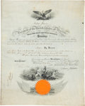 Military & Patriotic:Civil War, Andrew Johnson Presidential Brevet Commission for a US Marine for Civil War Action....