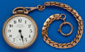Timepieces:Pocket (post 1900), Ruxton Railroader, 16 Size With Chain. ...