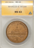 So-Called Dollars, 1893 Medal So Called $ HK-155 MS63 ANACS. (#661893)...