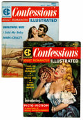 Silver Age (1956-1969):Romance, Confessions Illustrated #1 and 2 Group (EC, 1956).... (Total: 2 Comic Books)