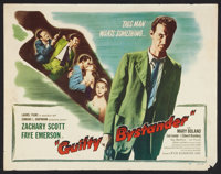 "Guilty Bystander (Film Classics, Inc., 1950). Half Sheet (22"" X 28""). Film Noir"