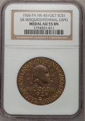 Medals And Tokens, 1926 Medal Gilt U.S. Sesquicentennial Expo So-Called Dollar AU55 Brown NGC. HK-451. PCGS Population (0/0...