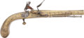 Military & Patriotic:Revolutionary War, 18th Century All Brass Scottish F/L Belt Pistol. ...