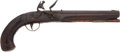 Military & Patriotic:Pre-Civil War, Wonderful, Untouched Pennsylvania F/L Pistol from the Kindig Collection by Jacob Baum, Northumberland Co. Penna. C.1815....