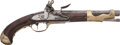 Military & Patriotic:Revolutionary War, Exceptional Condition Revolutionary War Period Brass Mounted FrenchM1763 Cavalry F/L Pistol....