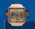 Timepieces:Other , Swiss 14k Gold Ring Watch. ...