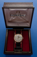 Timepieces:Wristwatch, Omega Gold Filled Seamaster With Original Box. ...