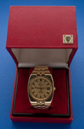 Timepieces:Wristwatch, Omega Constellation Automatic Massive 18k Gold Wristwatch WithOriginal Box. ...