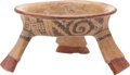 Antiques:Antiquities, Tripod Bowl with Geometric Pattern...