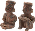 Antiques:Antiquities, Nayarit Seated Couple... (Total: 2 Items)