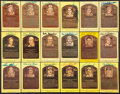 Autographs:Post Cards, Baseball Hall Of Fame Gold Plaques Lot Of 18....