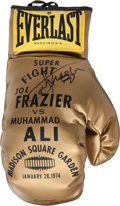 Boxing Collectibles:Autographs, Joe Frazier and Cassius Clay Multi Signed Boxing Glove....