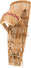 American Indian Art:Baskets, A PAIUTE WILLOW BABY CARRIER. c. 1900...